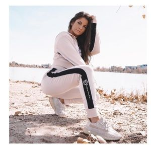 Paige Reilly Blossom Joggers in Latte
